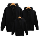 Accept Embroidery Cheap Wholesale Stock US Size S XL Plain Men's Hoodies & Sweatshirts Black Pullover Man Hoody
