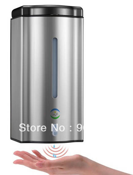 600ml edelstahl wand ir infrarot sensor automatische ber hrungslosen seifenspender in 600ml. Black Bedroom Furniture Sets. Home Design Ideas