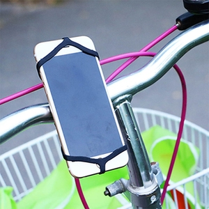 Flexible Bike Phone Silicone Rubber Band Bicycle Cell Phone Silicone Strap Grip Holder