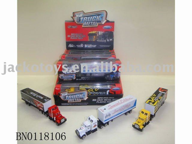glissade metal container truck , die cast truck & container w/sound