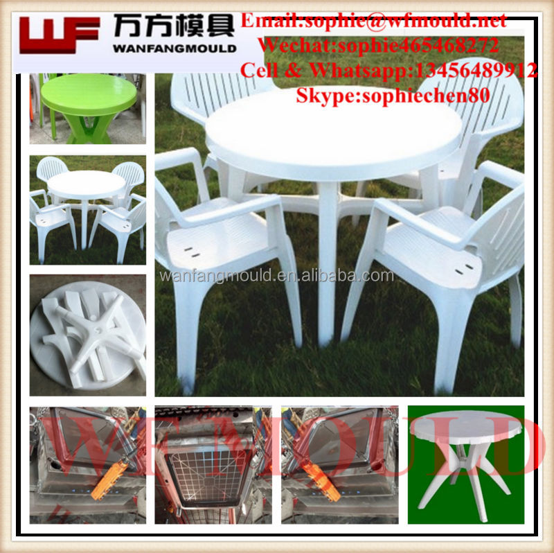 Plastic tables and chairs mould for outdoor recreation/OEM Custom plastic injection outdoor table mold