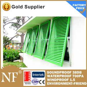 glass louvers window for doors