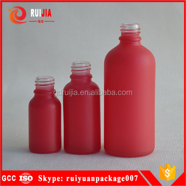 10ml 15ml 30ml 1oz 2oz red glass dropper bottles for e-liquids cosmetics perfume manufacturing china suppier