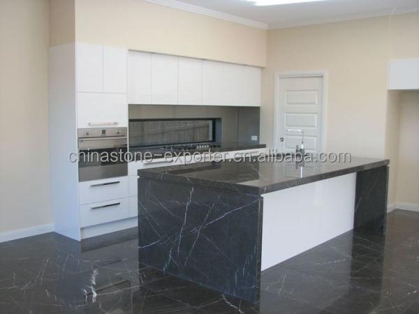 Grigio marquina fantasia pavimenti in marmo top della cucina isola iran prodotti pietra di - Top cucina stone ...