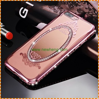 size 40 45f0c b2ff3 Luxury Back Cover Mirror Cell Phone Case For Iphone 6 6p 7 7p - Buy Tpu  Mirror Case For Iphone 7 Plus,Back Cover Phone Case For Iphone7 Plus,Mirror  ...
