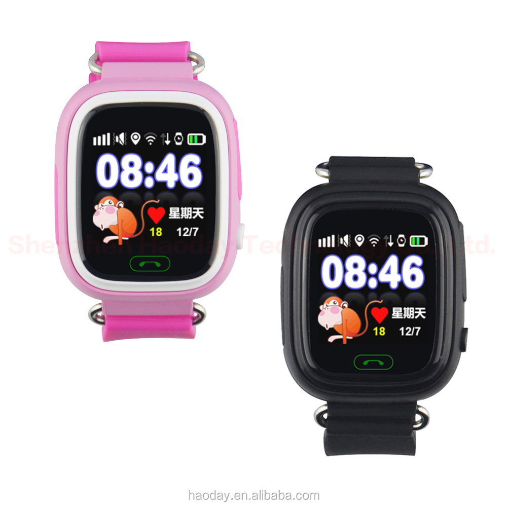Q90 Kids GPS Watch Smart Children Tracker Watch with Touch Screen WIFI Location SOS Call Tracker Safe Anti-Lost Monitor Device
