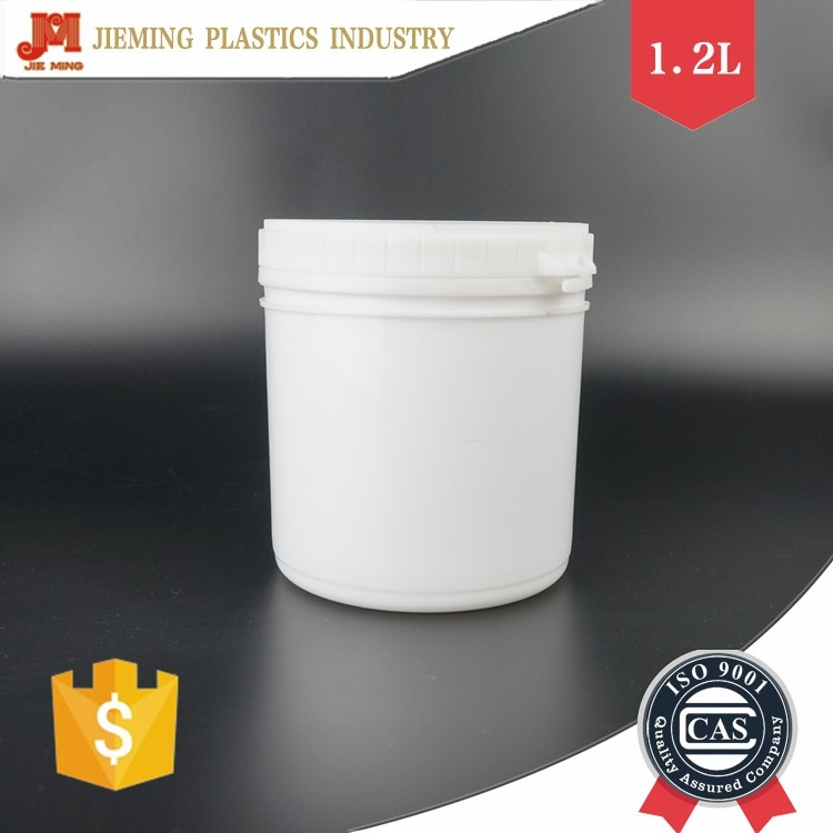 1.2L Plastic Ink Jar, Painting Plastic Jar, Small Jar for Chemical with Sealed Lid