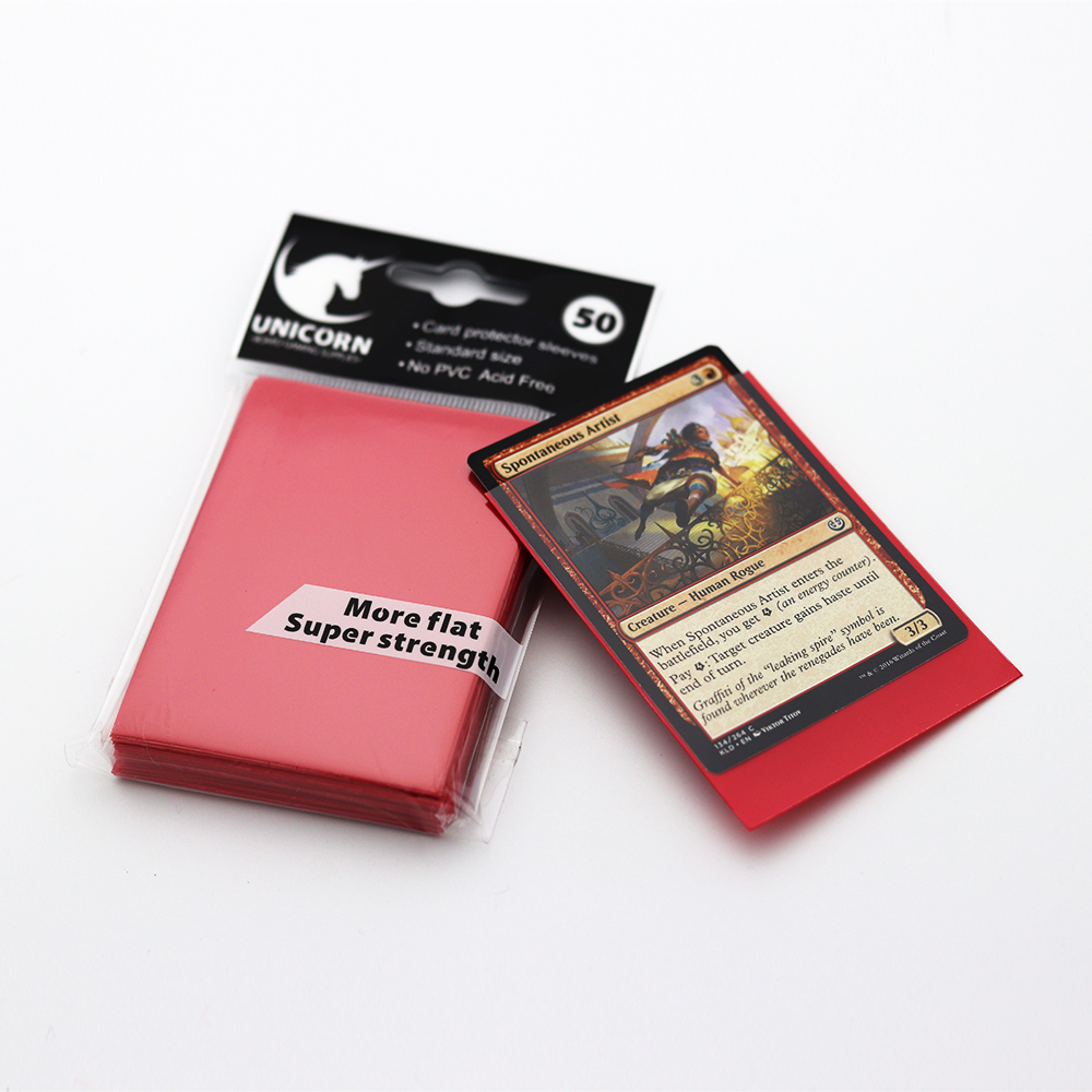Ultra Pro Card Supplies Yugioh Sized Standard Red Gaming Card Sleeves 50ct  - Buy Plastic Card Sleeves,Gaming Card Sleeves,Game Card Sleeves Product on