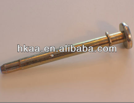 ISO9001 OEM RoHS passed clevis pin,collared pin with cross hole extruded tip
