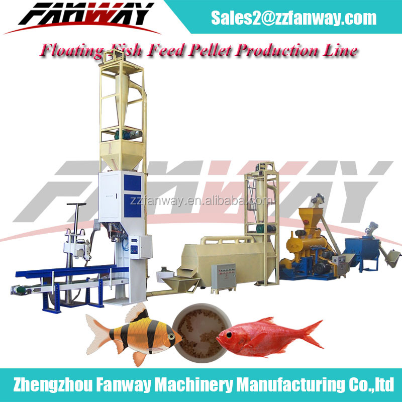 Different Capacity Fish Feed Pellet Plant, Fish Food Production Making Line
