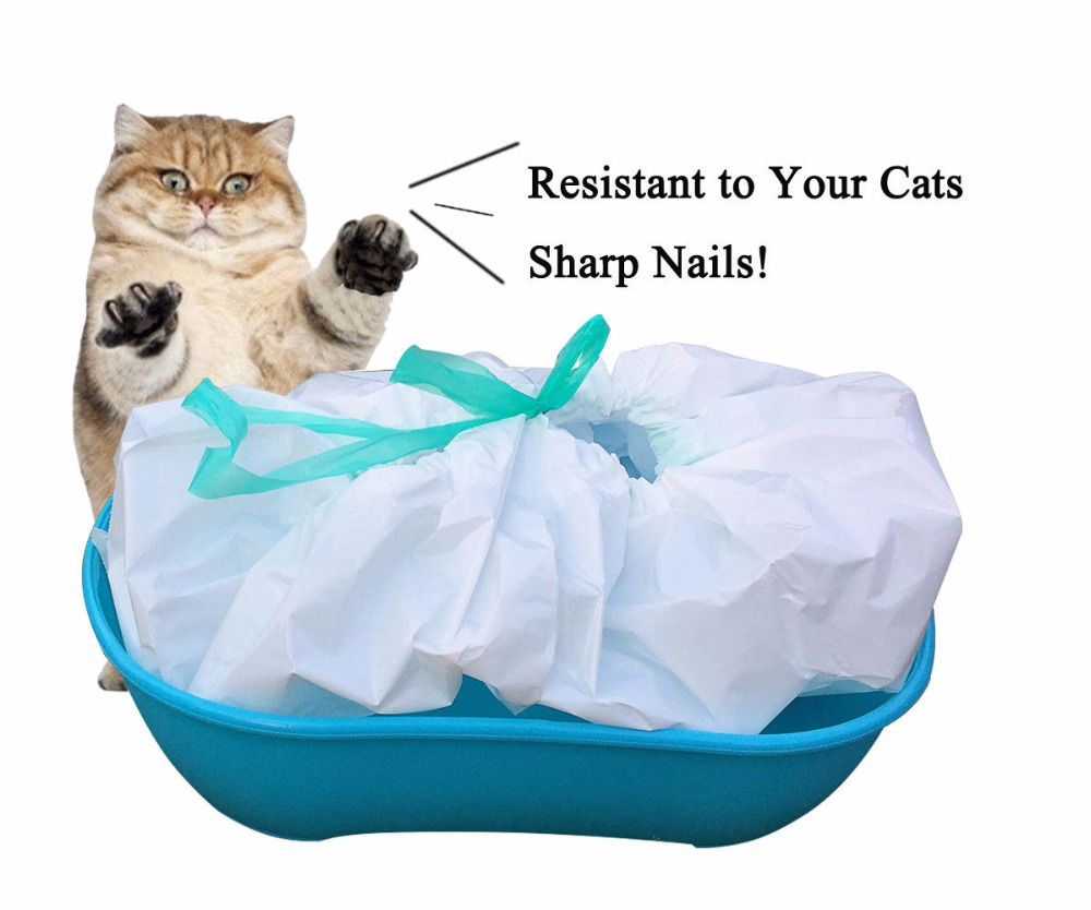 Best selling high quality heavy duty drawstring cat litter box liners