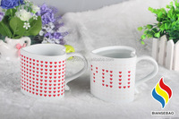 Valentine gift heart ceramic mug love