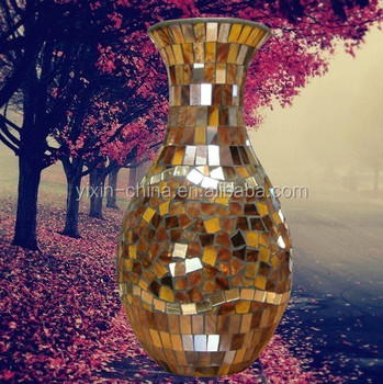 Glass Mosaic Flower Vase Multiclassical Type Mosaic Glass Vase