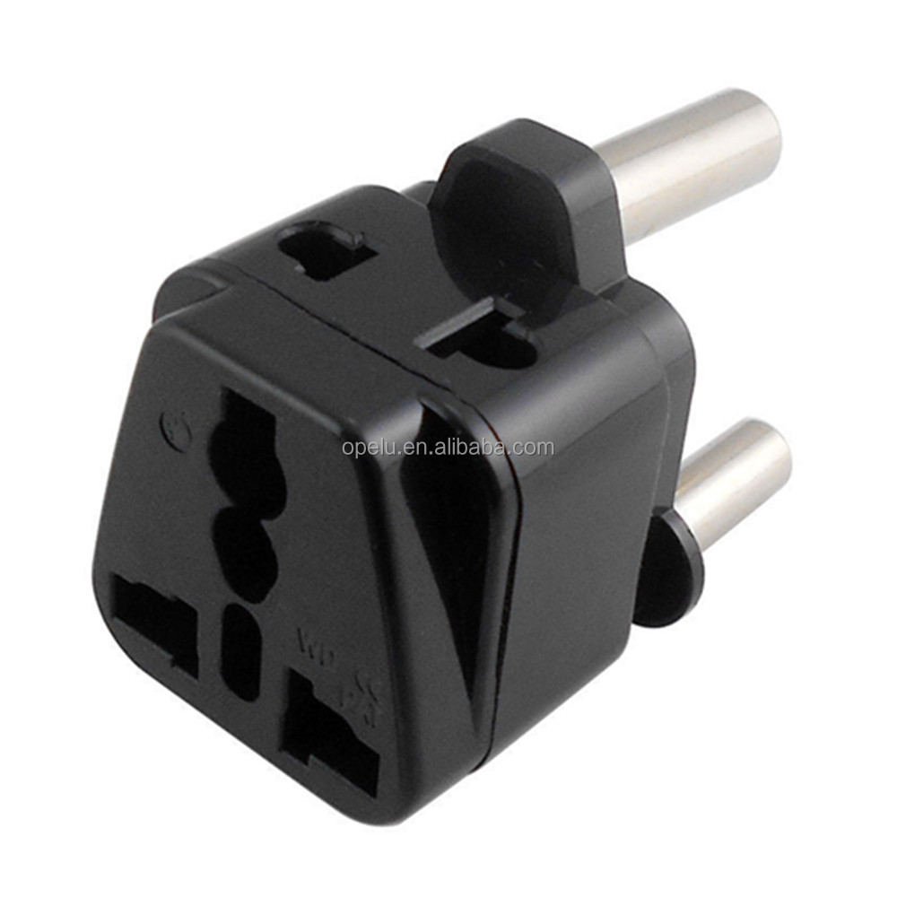 New Converter UK US AU EU Euro to South Africa Plug Type M Travel Power Adapter