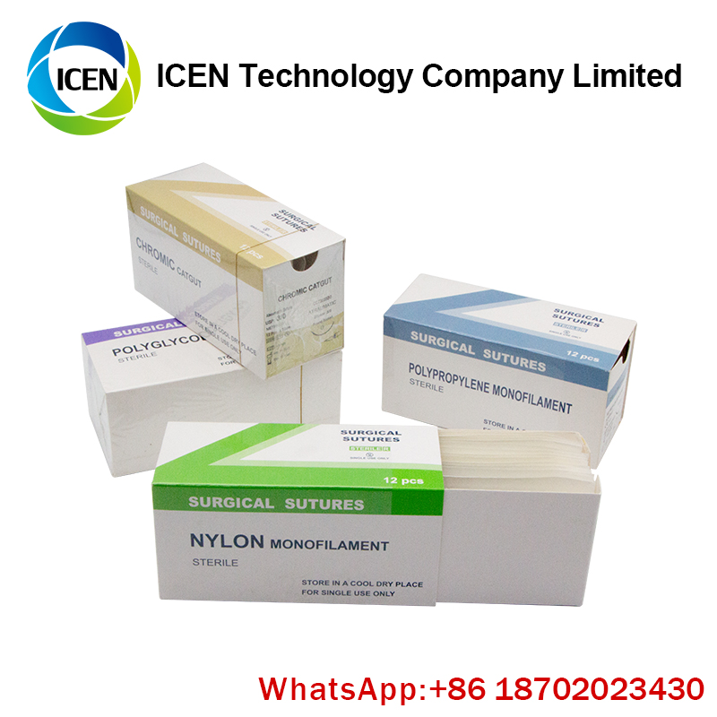 CE FDA ISO Approved Vicryl Non-Absorbable Sterile R Silk Braided Surgical Sutures With Needle