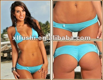 c745b4edbd Aqua Blue Boy Short Bottom Scrunch Brazilian Swimwear - Buy ...