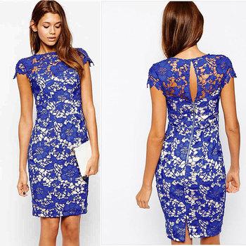 Ladies Knee Length Lace Dresses