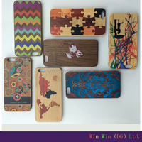 New arrival slim colorful wooden phone case for iphone 6,back cover for iphone case