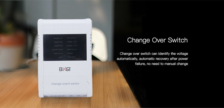BX-COV018-D LED Digital Display Electric Automatic Change Over Switch with High Power and Four Phases