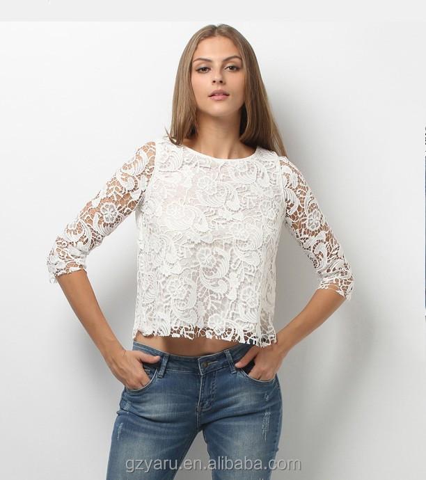 witte blouse met kant
