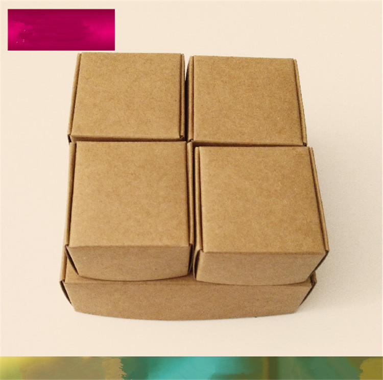 Pack Boxes Smart Little Sized Craftwork Gift, Fastener, Ear Rings Kraft Paper Boxes