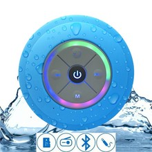2018 Hot Jual Mini Portabel Subwoofer Luar LED Shower Blutooth Waterproof Wireless Speaker Dengan <span class=keywords><strong>TF</strong></span>/FM/AUX