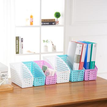 Round Hole Square Book Magazine Storage Basket For Office Dest