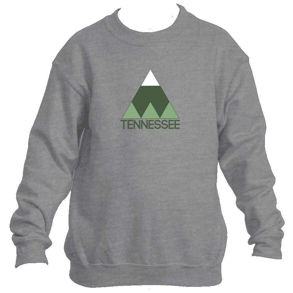 Minimal Mountain - Tennessee Youth Fleece Crew Sweatshirt - Unisex