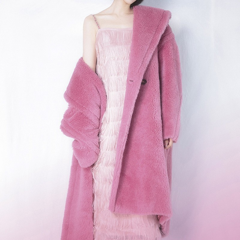 Winter Faux Fur Teddy Coat Women High Street Oversized Teddy Jackets And Coats Ladies Lamb Wool Coat Faux Fur Coat cwf0004-5 фото