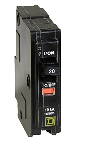 Square D QO120 20-Amp 1-Pole Plug-On Circuit Breaker (6 Pack)