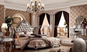 European Style Wood Carved Bed Elegant And Royal King Size Luxury Bedroom Furniture