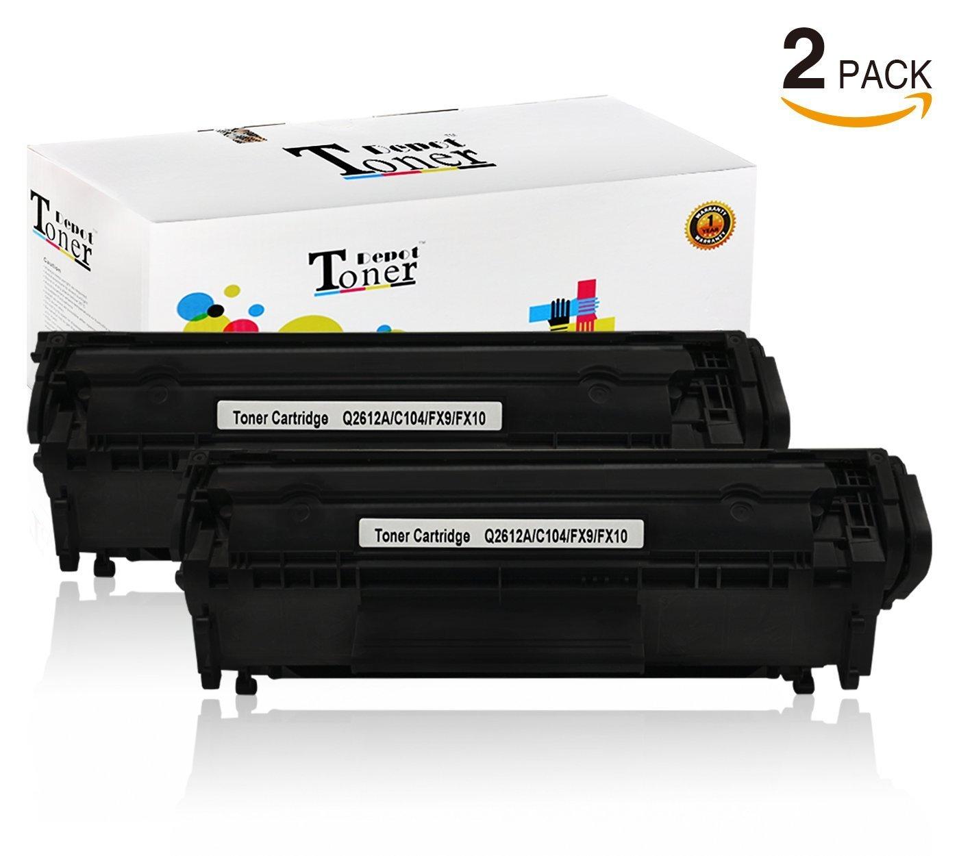 Get Quotations · 2 PACK TonerDepot Compatible with HP Q2612A, C104, FX9,  FX10 Toner Cartridge Multi