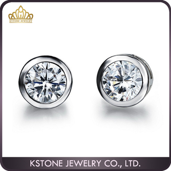 Kstone Mens Diamond Earrings Stud