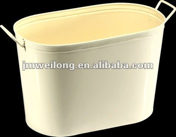 Oval Galvanized Metal Party Tub Large Ice Bucket