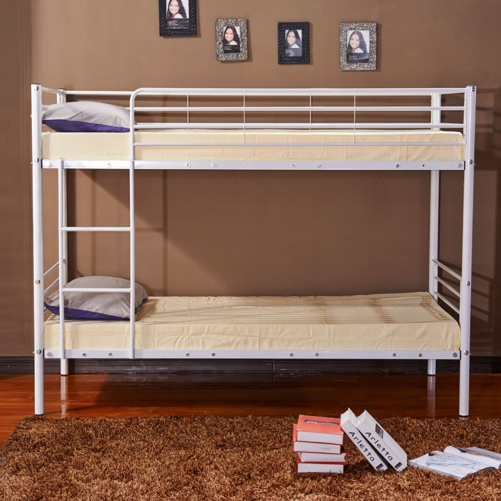 Steel double deck bed - Bedroom Furniture Kids Metal Pipe Double Deck Beds Cheap Steel Bunk Bed For Two Children With