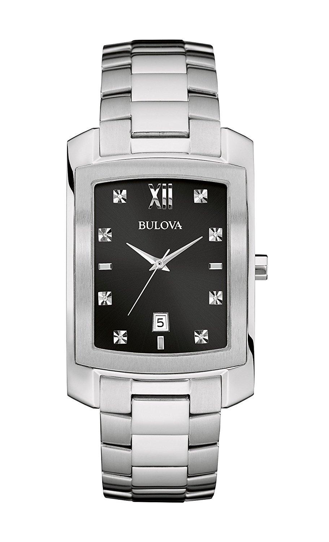 Bulova Men's Quartz Stainless Steel Dress Watch, Color:Silver-Toned (Model: