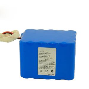 Custom Li-ion battery pack ICR18650-4S5P 14.8V 11AH For Stage lighting Audio Visual
