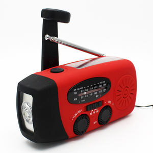 Solar Crank Dynamo Portable Weather Radio with AM/FM/NOAA 7 Weather Service Channel