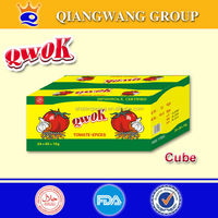 10G/CUBE*60*12 HALAL VEGETABLE CURRY /CREVETTE COOING CUBE SEASONING CUBE BOUILLON SEASONING CUBE