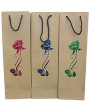 cheapest decorated brown kraft wine bag