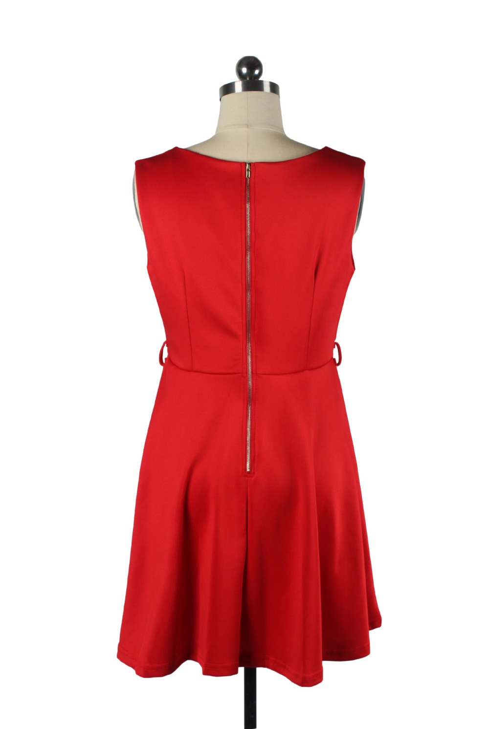 a499ce6fa68 Get Quotations · J.L.I solid skater dress plus size Tank red green purple  elegant Sleeveless vintage casual summer women s
