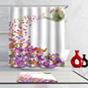 100% Polyester Printed Flower Print Shower Curtain