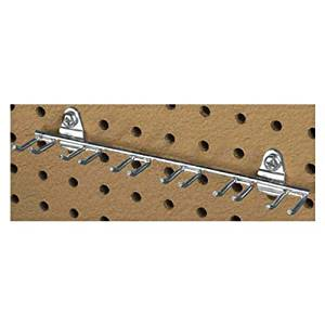 8-1/8 In. W with 7/16 & 13/16 In. I.D. Zinc Plated Steel Multi-Prong Tool for DuraBoard or 1/8 In. and 1/4 In. Pegboards, 2 Pack by Triton