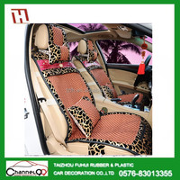 FH-2090 fashionable, cool, nice good quality thick ice silk material with PU leather seat covers hawaiian
