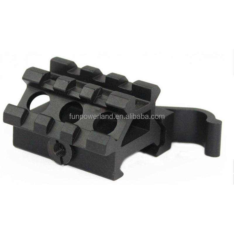 Funpowerland Quick Release Scope Tactical Mount Double Picatinny Rail See-Throu For 20mm Weaver Picatinny Bases, Matte black