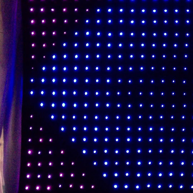 P10 LED Curtain Stage Light 3-In-1 RGB LEDS Led Curtain DJ/Fest/Home /KTV Rooms /Bar /Stage /Party Light Support Custom
