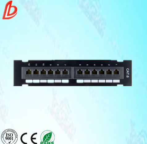 "12 port Wall Mounted UTP Cat6 Patch Panel 10"" 1U, Krone or 110 Dual IDC patch panel"