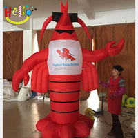 customized inflatable sea animal lobster
