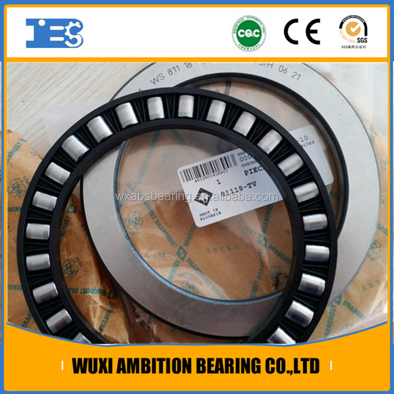 81128-TV Axial cylindrical roller bearings 811 single direction comprising