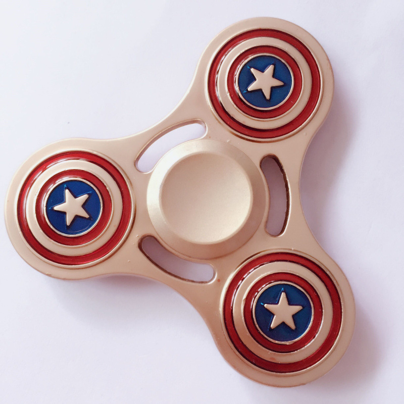 2017 New high fashionable hand spinner superman/captain america/batman/ custom logo gyro superan spinner